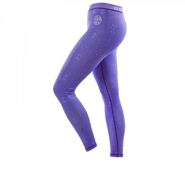 Gold´s Gym GGLPNT048 - Ladies Pattern Printed Long Tight Pants - lilac