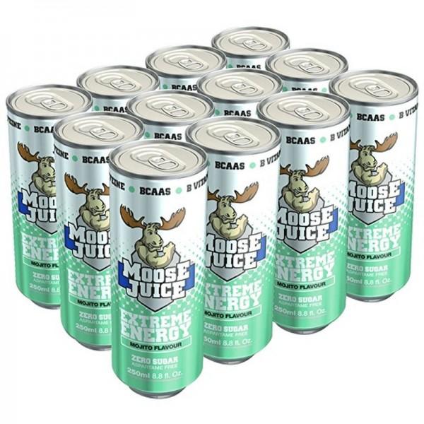 Muscle Moose Juice Energy BCAA Drink - (12x250ml)