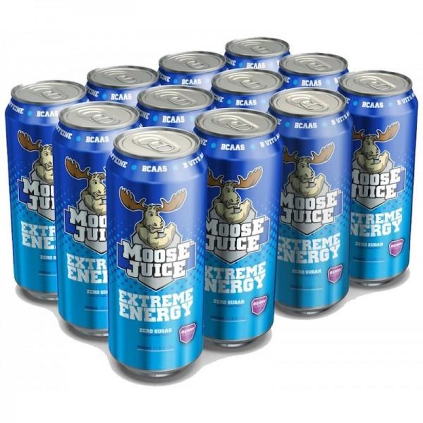 Muscle Moose Juice Energy BCAA Drink Zero Sugar - (12x500ml)