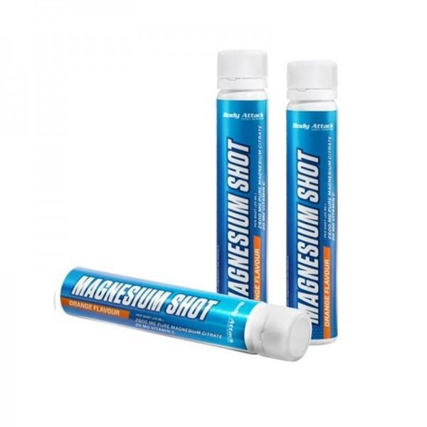Body Attack Magnesium Shots 20x25ml - Orange