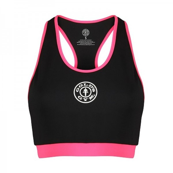 Gold´s Gym GGLTOP025 - Ladies Crop Top - blk/pink