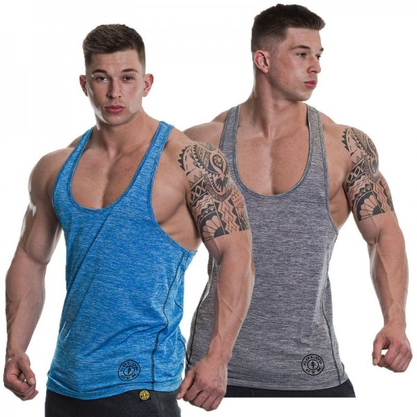 Gold´s Gym GGVST061 Raglan Stringer - Blue Marlin