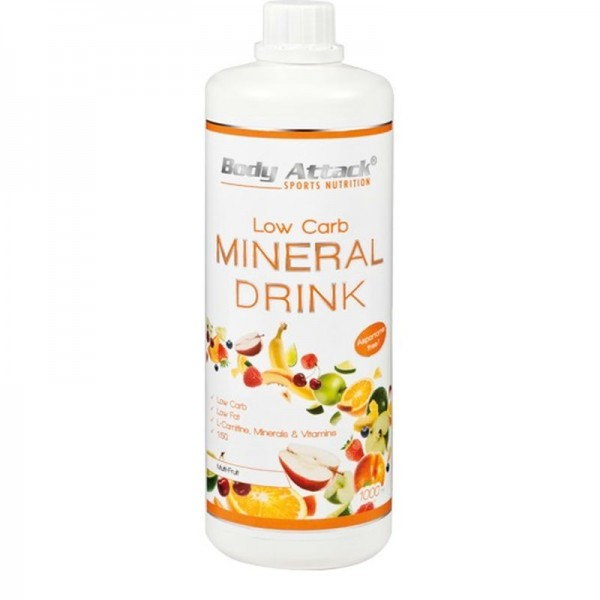 Body Attack Low Carb Mineral Drink 1000 ml